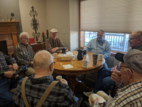 The Primrose guys gather weekly to have coffee and talk about the world issues.