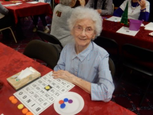 Pearl's favorite game was upgraded to a holiday tradition - Christmas Bingo!