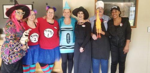 Quite the crew! Primrose Mankato is all about Halloween fun!