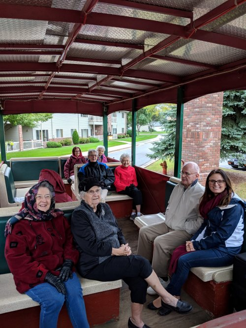 Chilly day for a trolley ride!