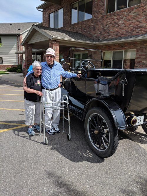 Siebert and Joan S. reflect back on days when their parents drove this classic car.