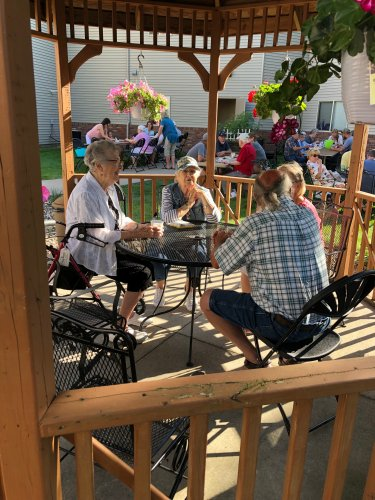 Residents Norma and Vernice enjoying our family picnic with some friends!