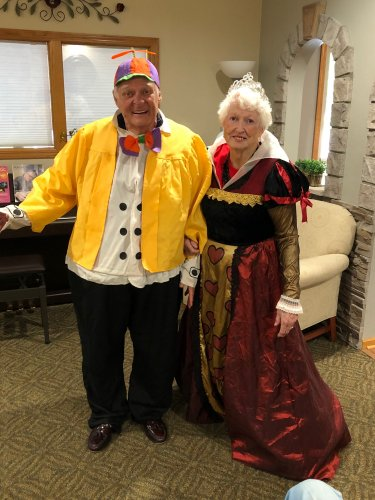 When your grandson requests a costume party for his birthday, you give him a costume party! Tweedle Dum and the Queen of Hearts are ready to go!