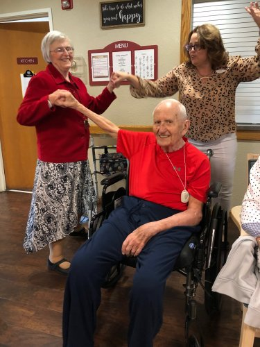 There isn't a party like a Primrose dance party because a Primrose dance party doesn't stop! Here is Dorie, our Sales Director Lora, and Art dancing the night away!