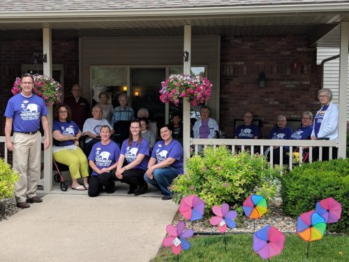 Staff and Residents gather in support of the Longest Day.