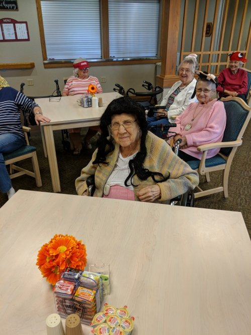Here is a picture of our residents enjoying life and having FUN! This is living!