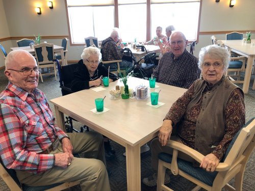 Residents enjoying a root beer float social! Don says he enjoys our socials because it gives him the opportunity to talk to others and learn more about them!