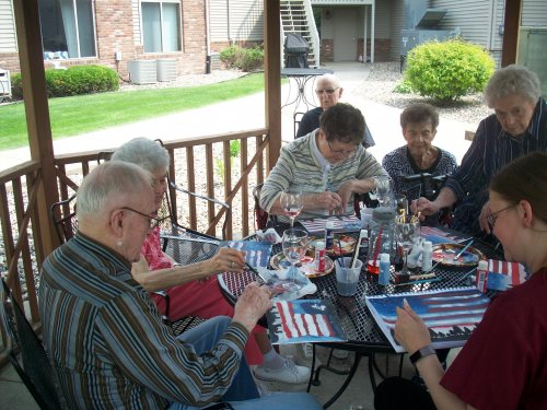 It's a perfect day to spend some time outside, enjoy a glass of wine and paint!