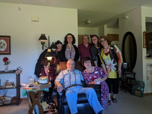 Surrounded by his Primrose family - Happy Birthday Don!