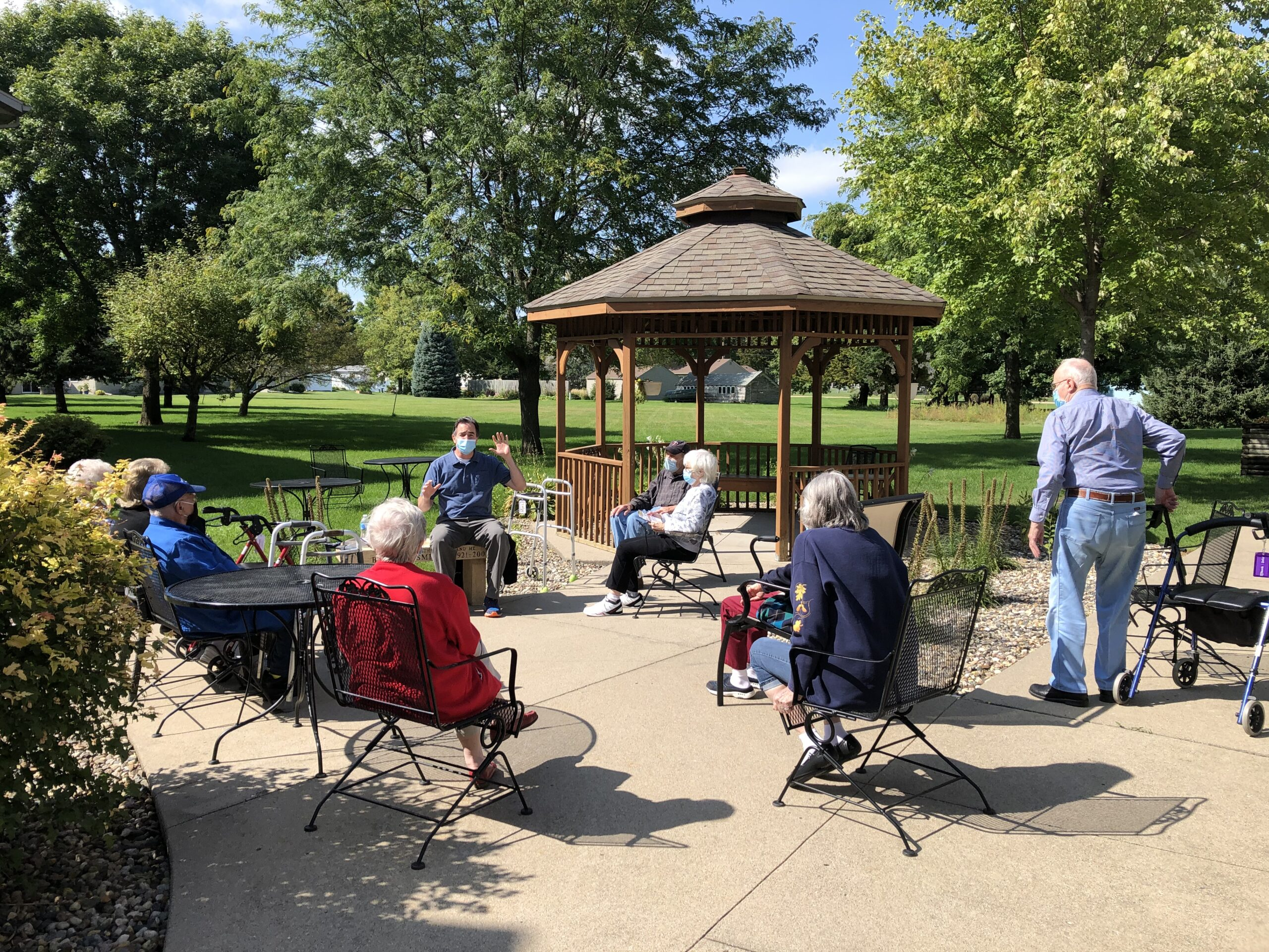 Outdoor programs as long as the weather is tolerable, here in Minnesota!