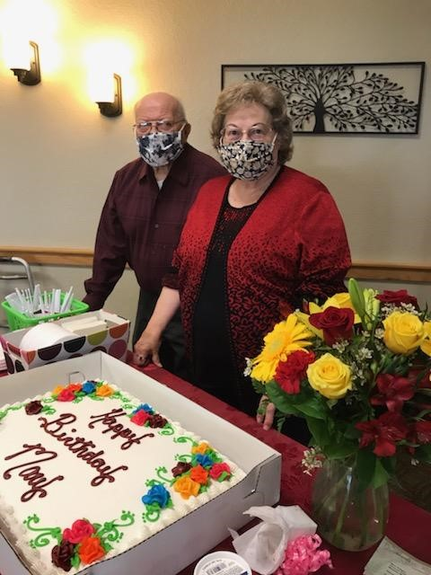 Richard was adamant that he was going to surprise Mary on her birthday, and he did!