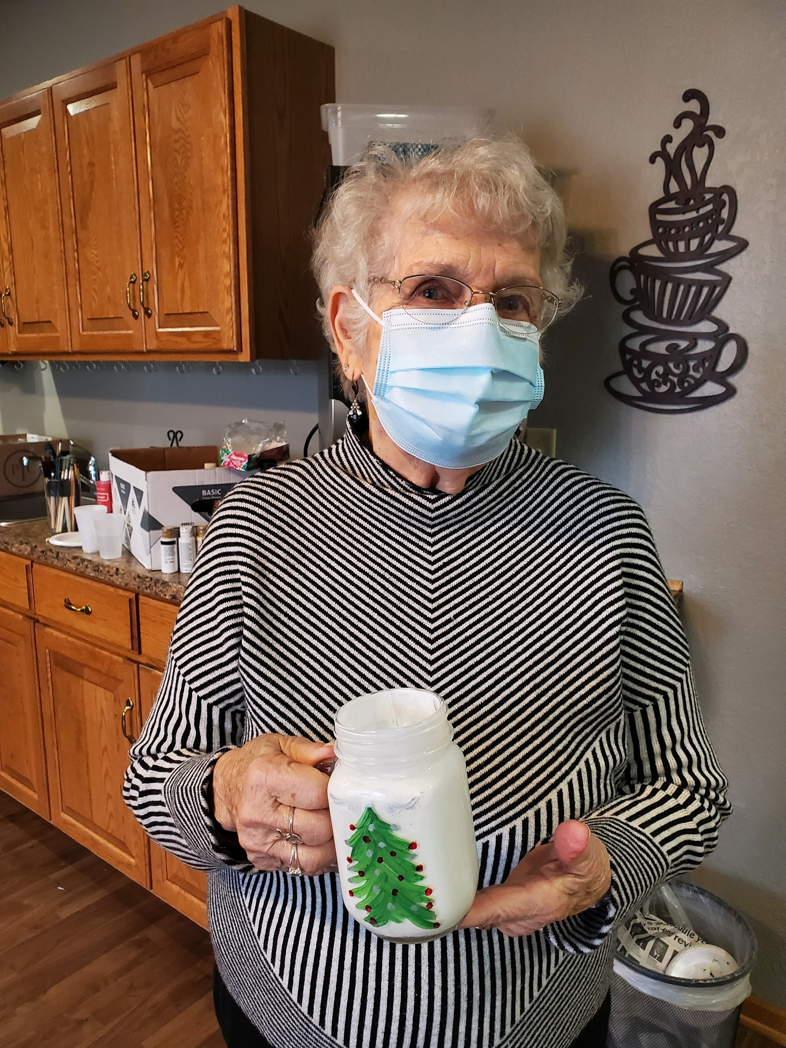 Norma celebrates National Mason jar day with a winter painting!