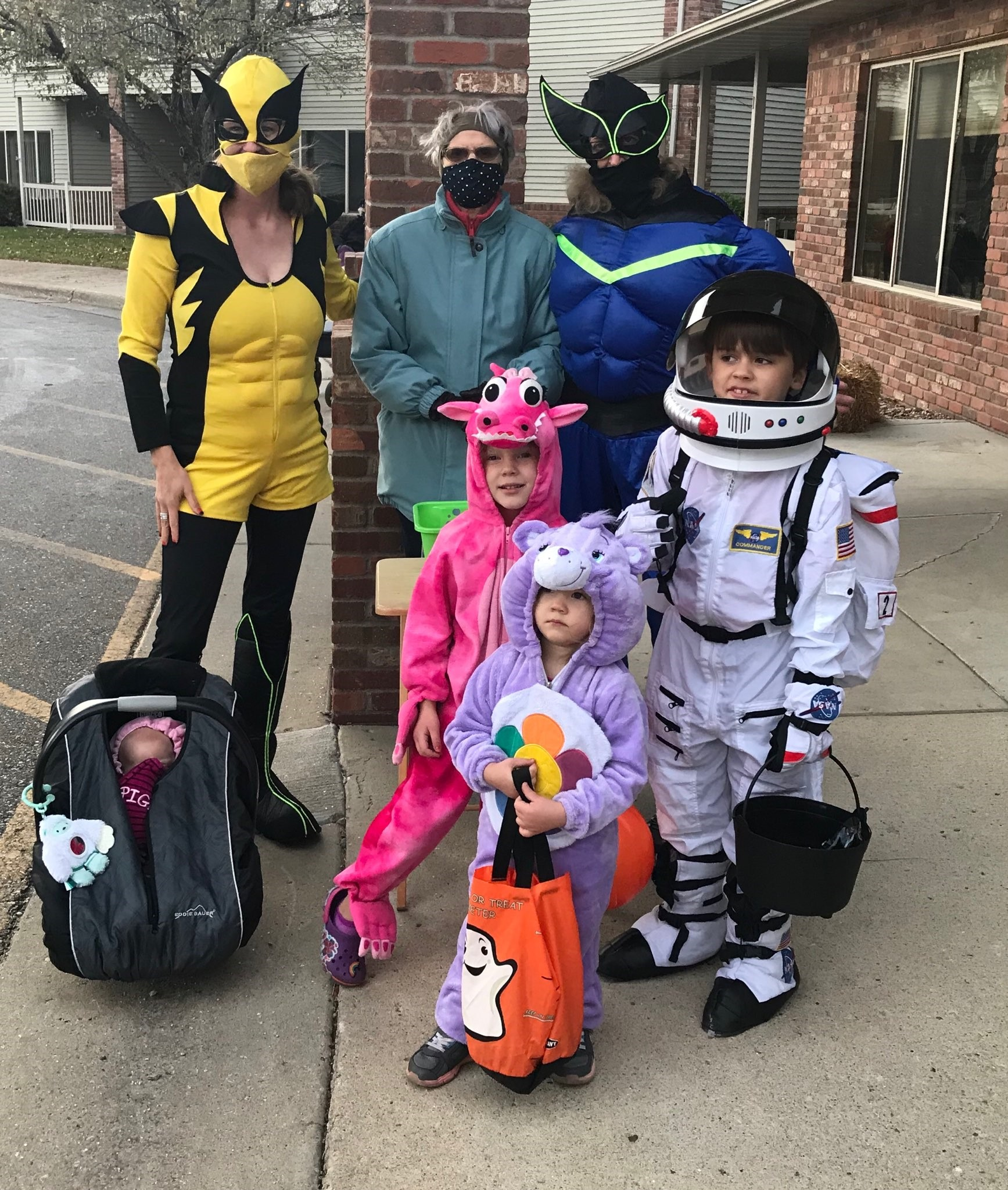 Marilyn's family came to our Trick or Treat parade!