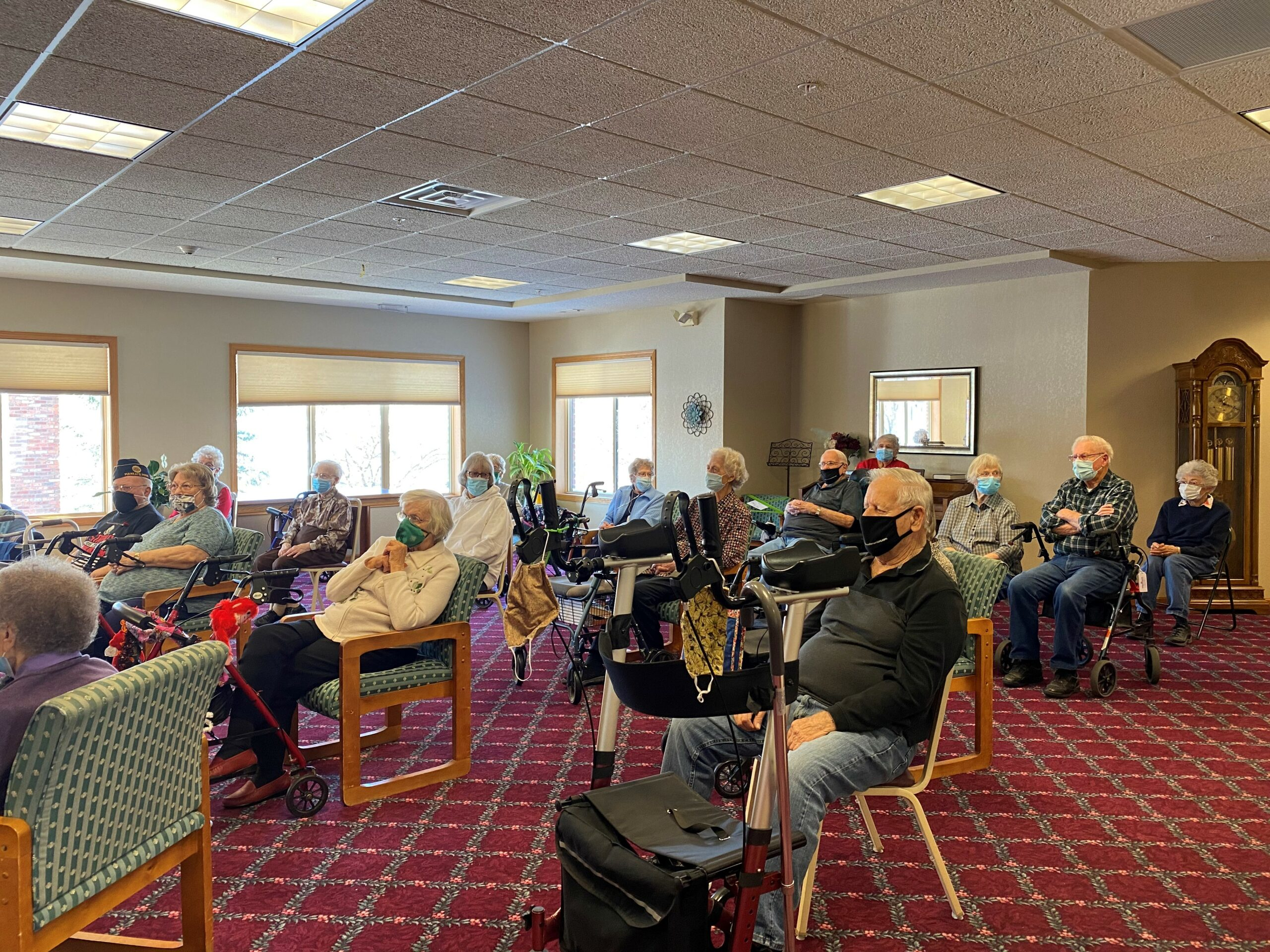So many residents showed up to pay tribute to our Veterans on Veterans Day!