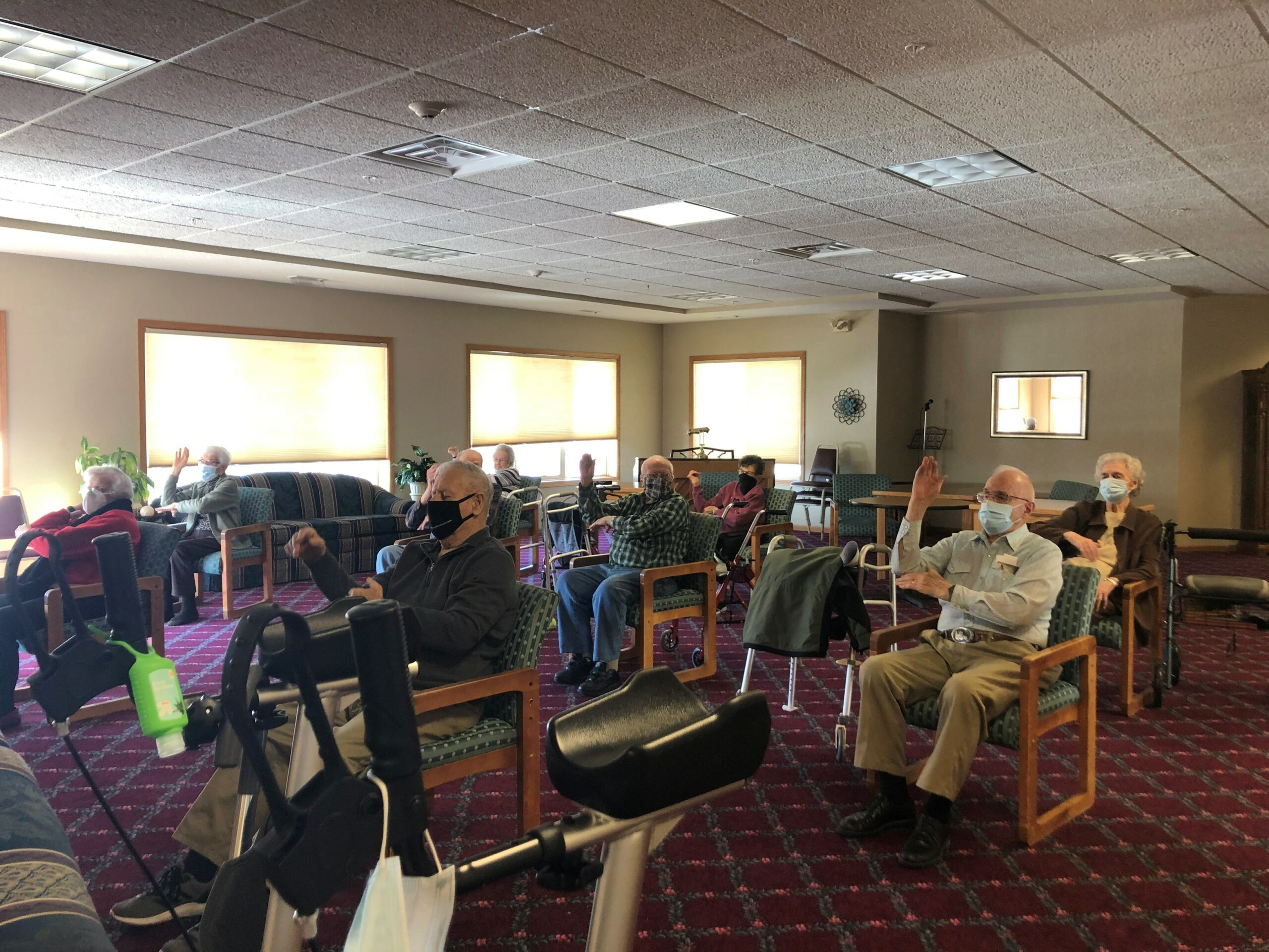 Even through a global pandemic, we've continued to offer our residents daily exercise classes!