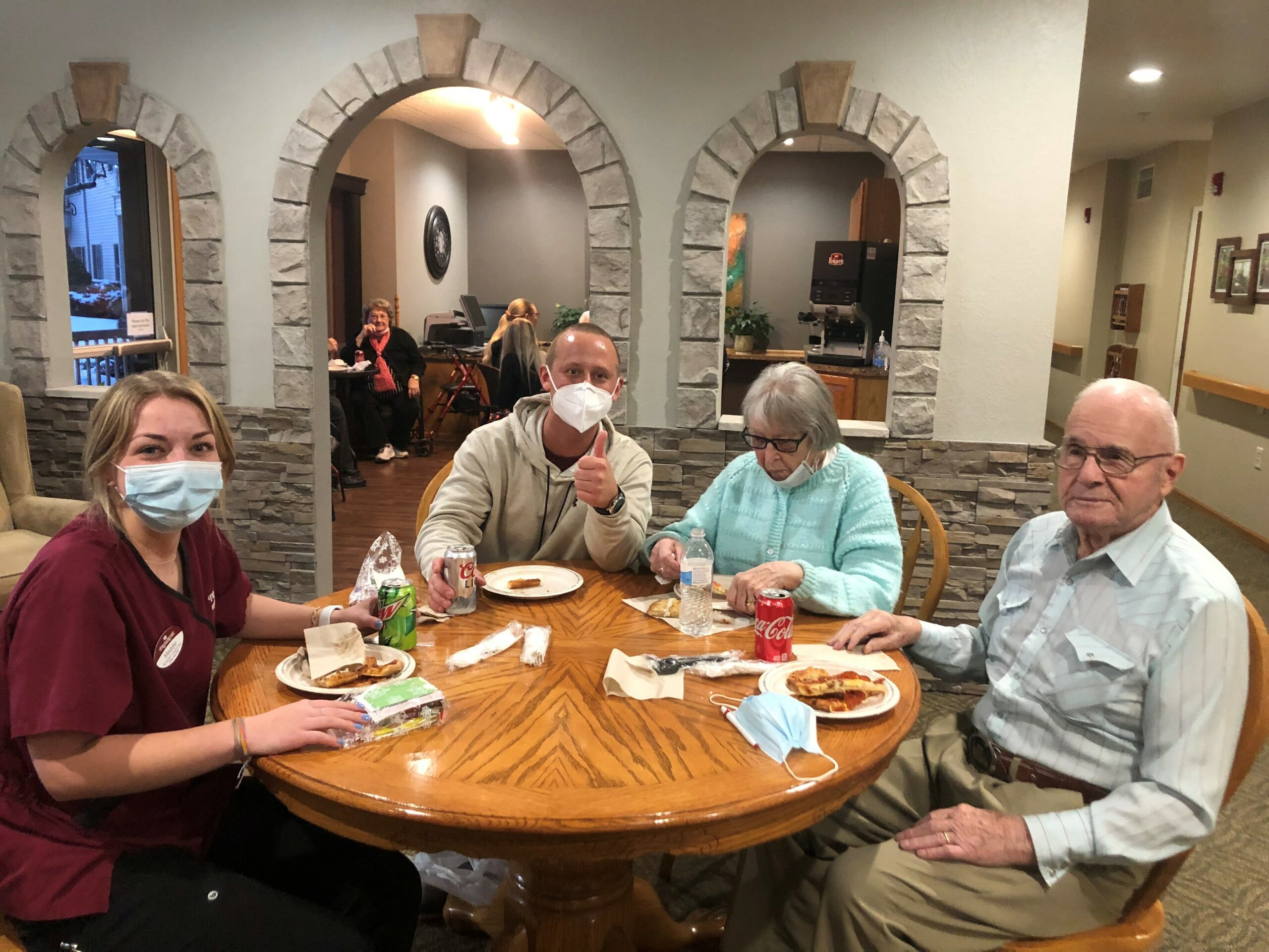 National Random Acts of Kindness Day gave residents an opportunity to have a pizza party & treat our younger staff members!