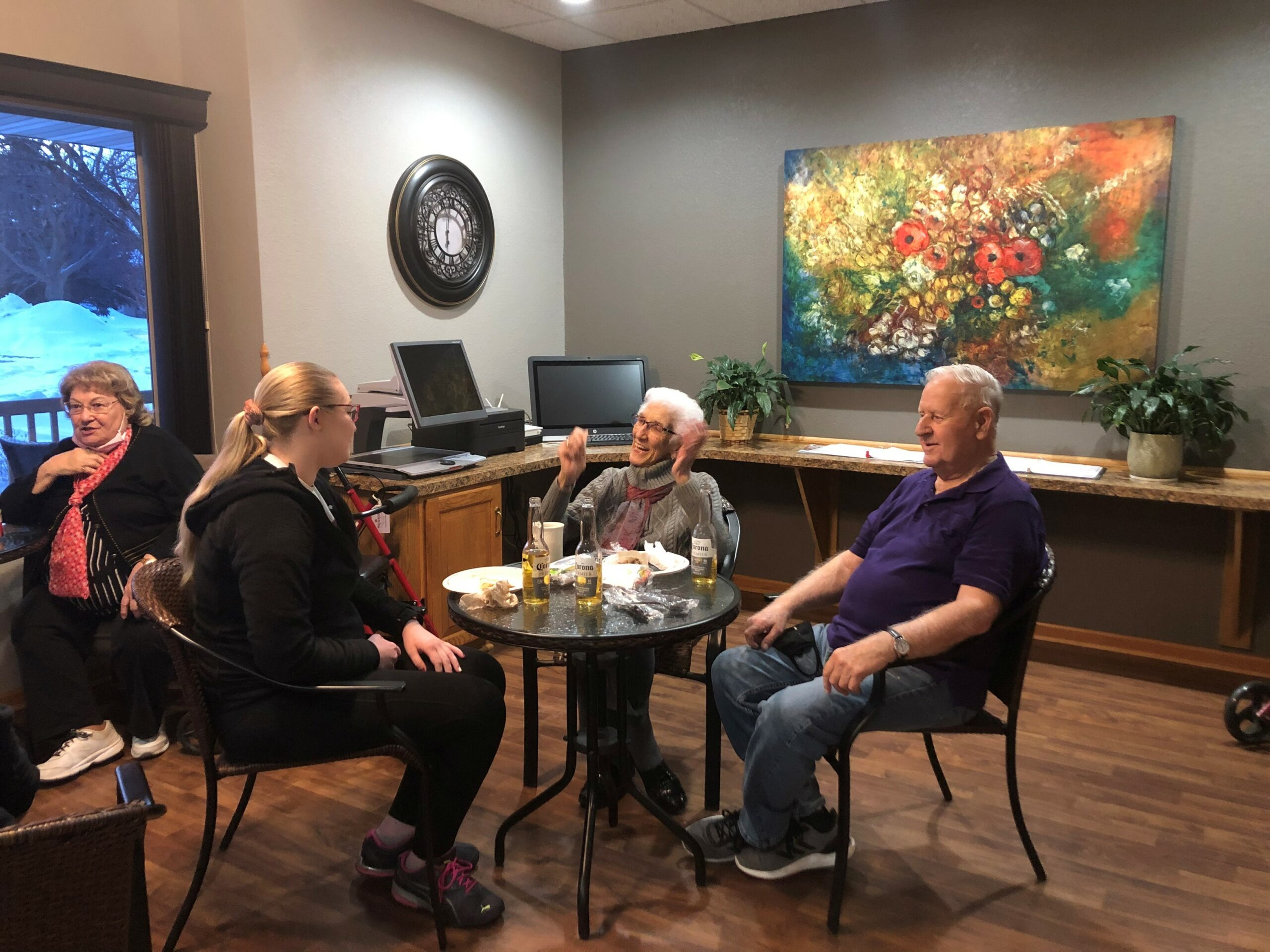 Residents & staff spent time learning about each other over dinner & treats to