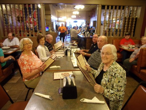 Residents out to eat at old fashioned Coney Island Diner
