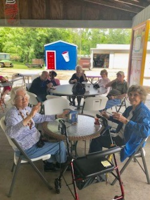 residents enjoying ice cream at Kelly's Dairy Bar