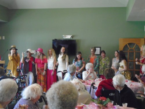 Mothers Day fashion show event with some of our Primrose staff modeling outfits from Catos boutique.