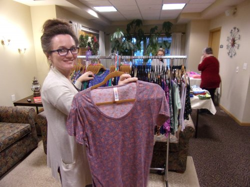 Maurna, our Assistant director of nursing doing some shopping at our 6th annual craft show