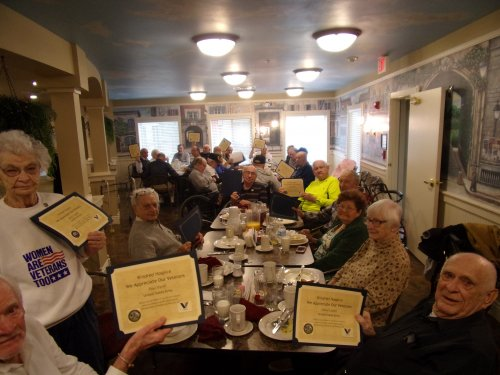 Veterans Day event pinning ceremony and breakfast