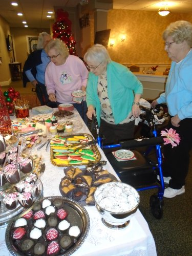 Our Desserts in December for residents and family