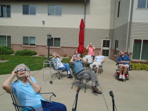 Solar Eclipse party at Primrose 2017