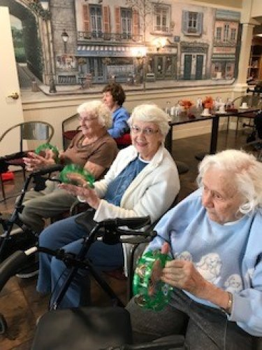 Residents enjoying entertainment with 'Hee Haw Live'