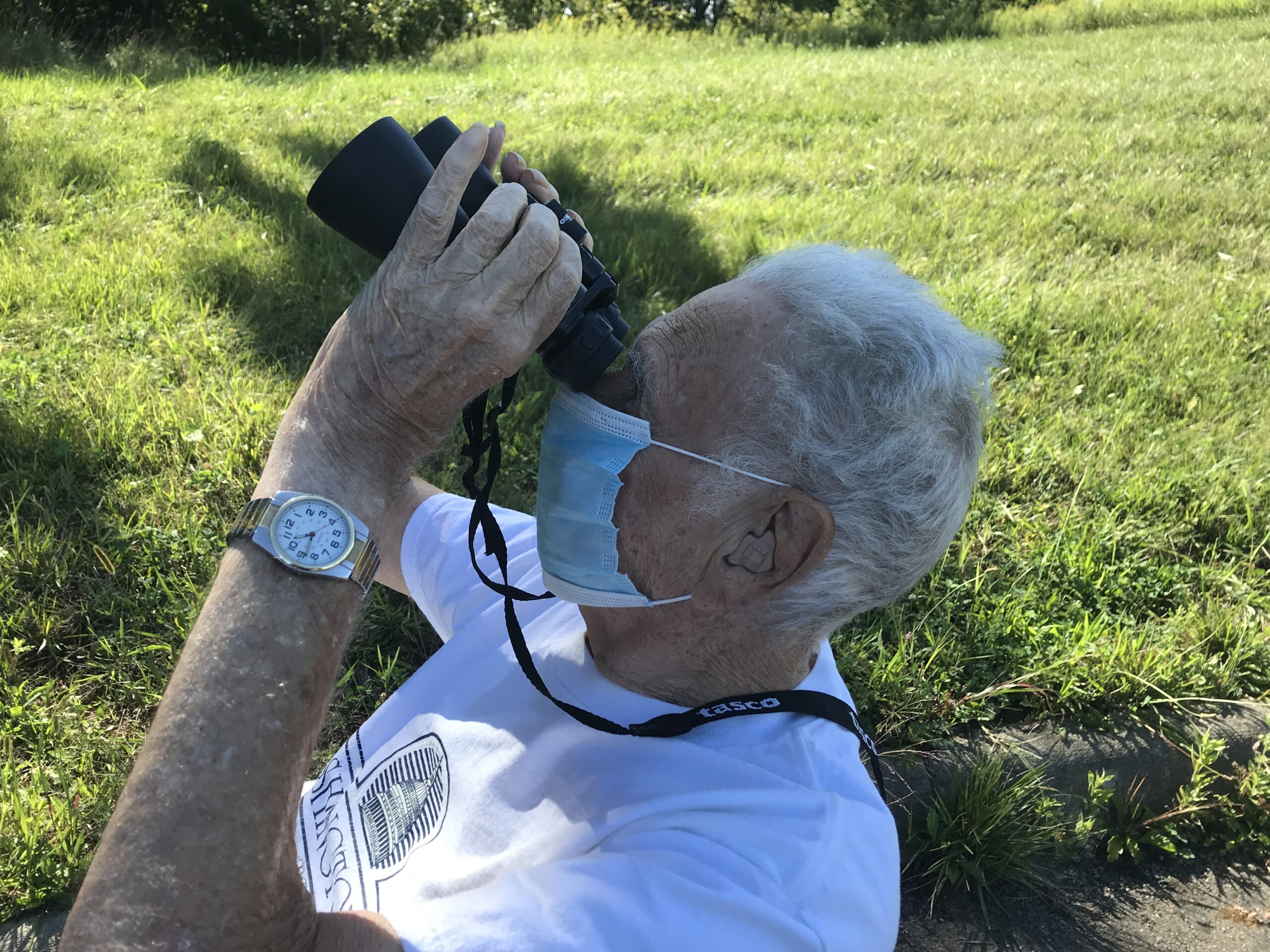 MANSFIELD OHIO Bob, doing some bird watching on our nature walk