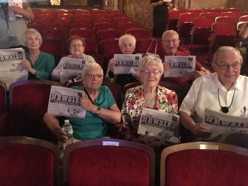 We enjoyed watching The Newsies at The Palace Theater!
