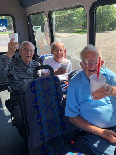Our bus trip to the Jer-Zee was a hit with these milkshake guys!