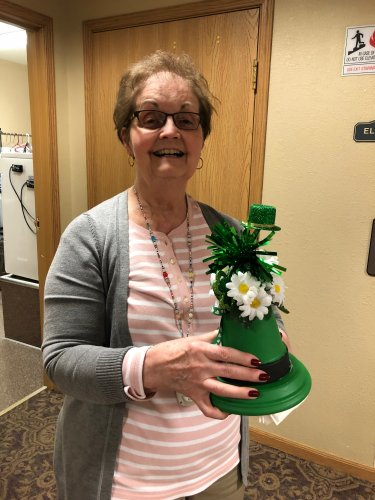 Ann was so happy with how her St. Patrick's Day craft turned out!