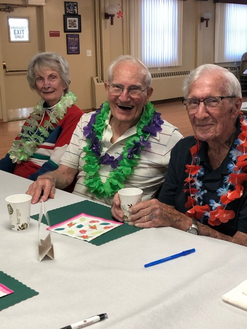 We had a lot of fun at the Senior Center Luau!
