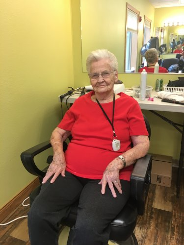 Today Betty got her hair done at our very own Salon!