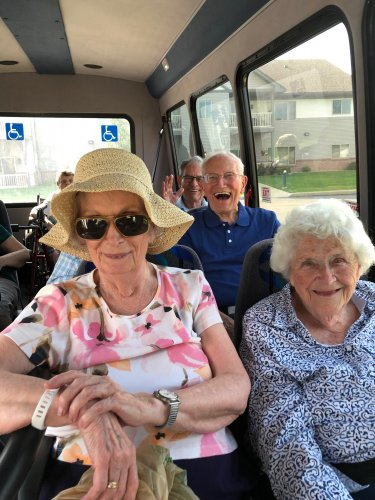 There is never a shortage of laughs on the Primrose bus!