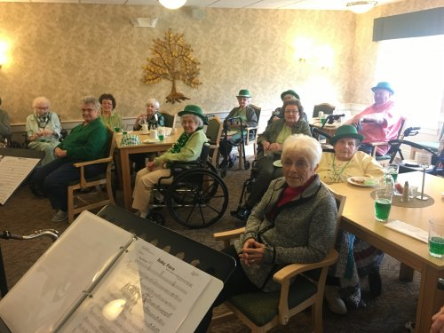 Our residents loved listening to the band play on St. Patrick's Day!