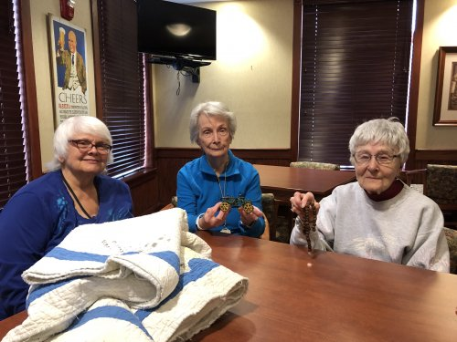 Residents got together to share stories and antiques they have collected over the years.