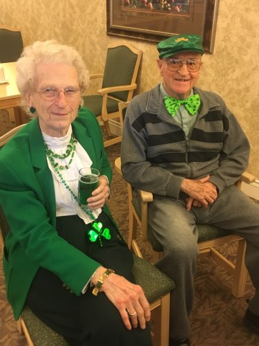 Randall and Betty showing off their green!