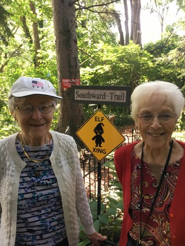 Our trip to The Woodland Elves was so much fun! Here is Pauline and Marjorie at the Elf Crossing.