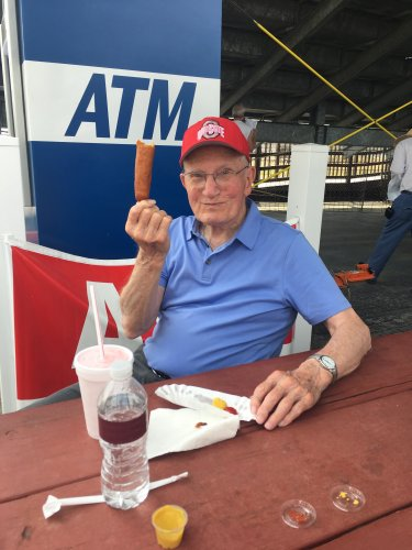 Joe had his first corndog at the Marion County Fair. He loves them now!