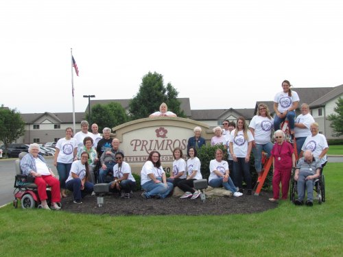 Residents and staff picture from our Longest Day celebration!