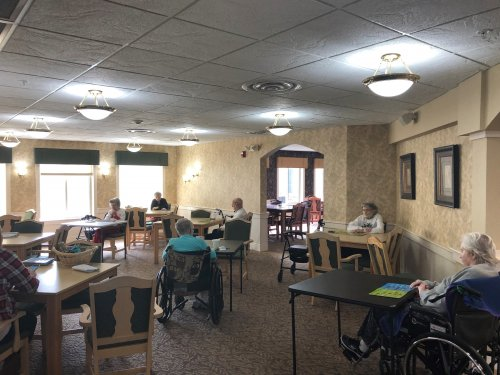 Bingo was not hindered by social distancing! Our residents loved the chance to see their friends and play!