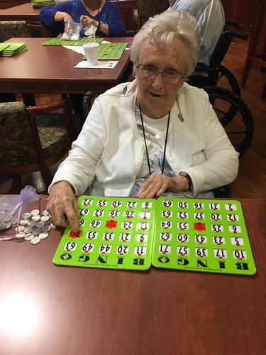Faye said she is ready to make her millions playing bingo!