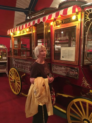 Dee enjoyed learning all about the history of popcorn and seeing the old machines!