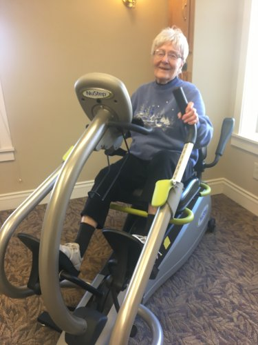 Marjorie is our resident work out Queen!