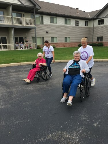 Chloe and Ruth going head to head in our wheelchair races Thursday!
