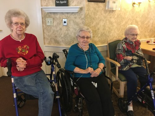 June, Faye and Marie had a great time listening to the music!