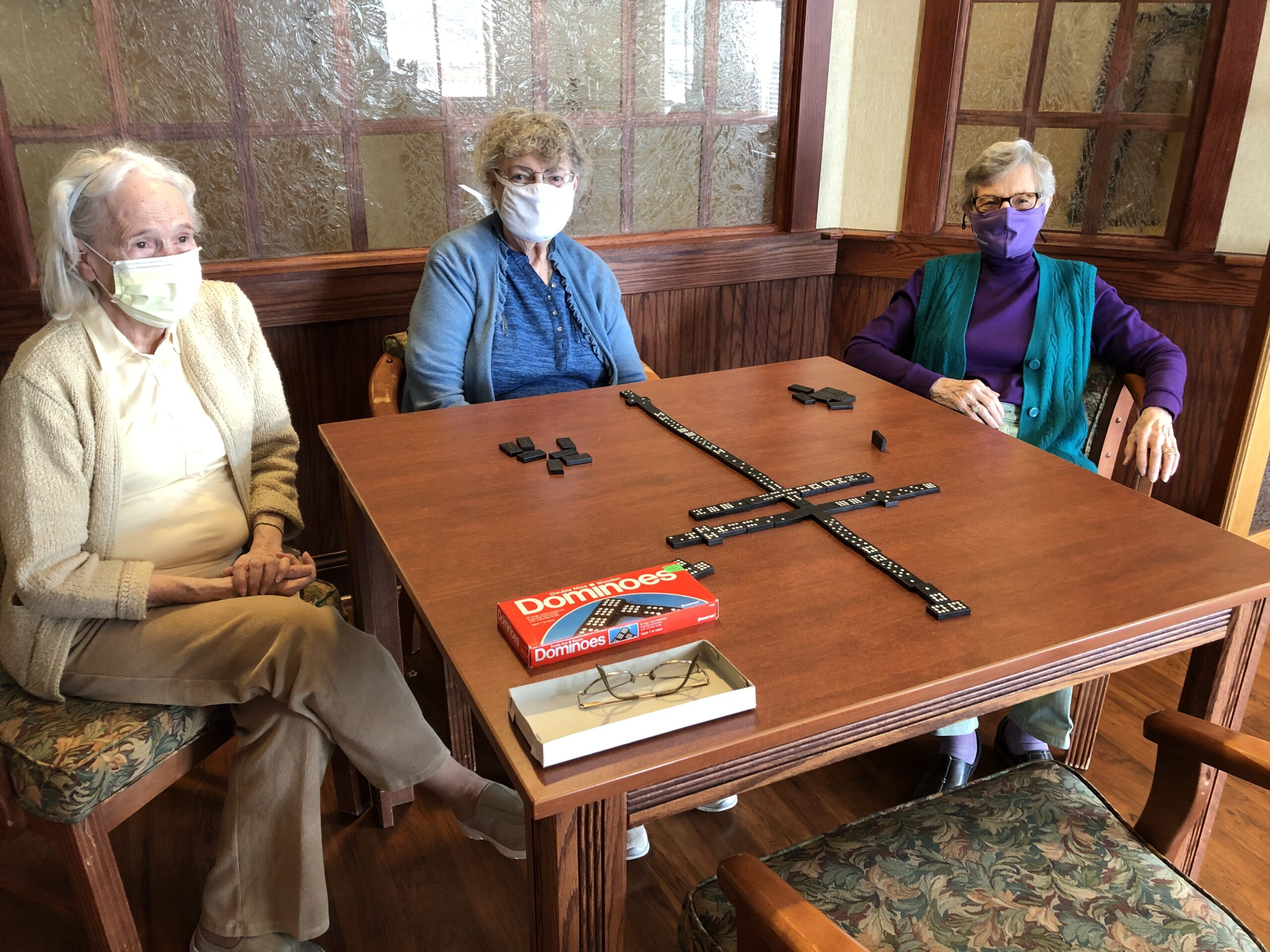 Happiness has a domino effect! Norma, Ethel, Phyllis