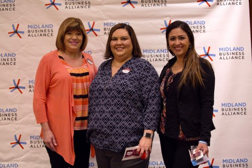 Jane, Crystalee, and Kaitlyn representing Primrose at Wake up Midland.